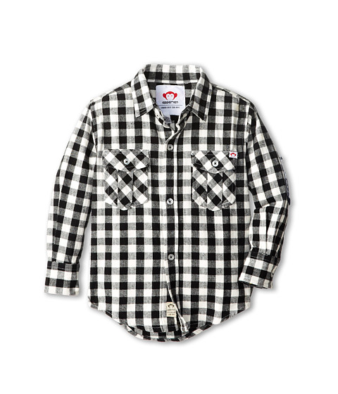 Appaman Kids - Super Soft Flannel Shirt w/ Elbow Patches (Toddler/Little Kids/Big Kids) (Check) Boy's Long Sleeve Button Up