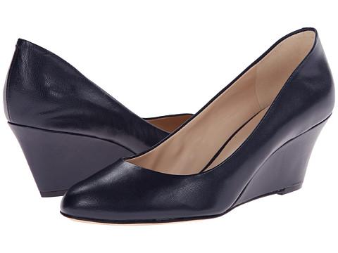 Nine West - Mela (Navy Leather) Women's Wedge Shoes