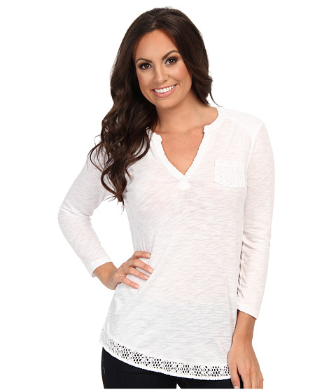 Lucky Brand - Crochet Mixed Top (Lucky White) Women's Clothing