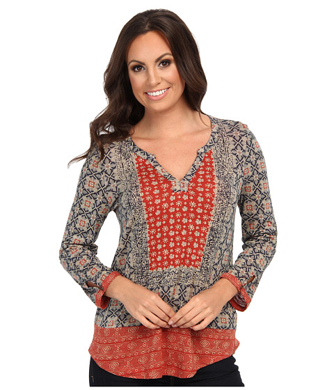 Lucky Brand - Placed Scarf Top (Multi) Women