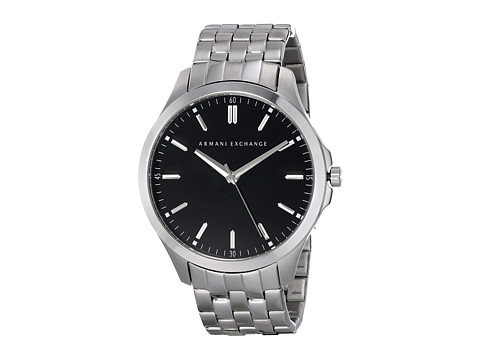 AX Armani Exchange - Hampton LP (Silver-Tone 2) Watches