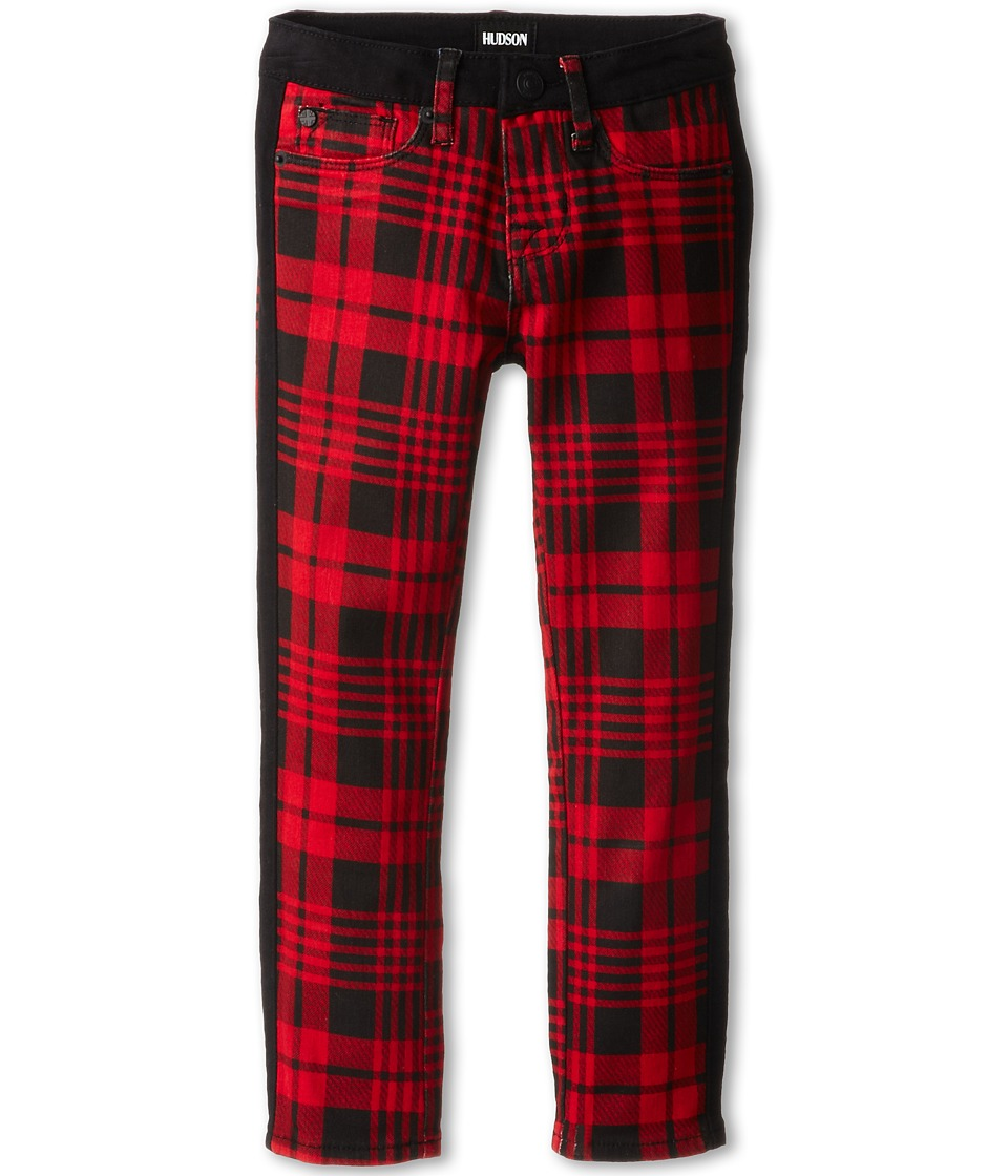 Hudson Kids - Plaid Leeloo Super Skinny in Scarlett (Little Kids) (Scarlett) Girl