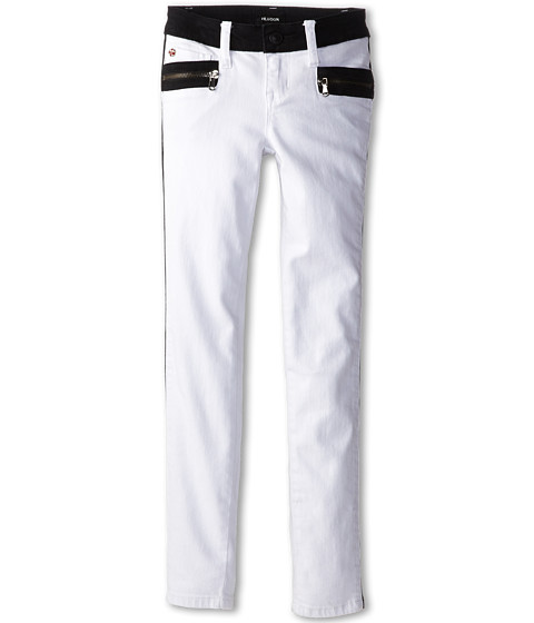 Hudson Kids - White Riot Two-Tone Skinny in White/Black (Big Kids) (White/Black) Girl