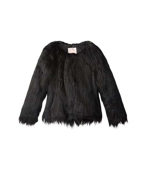 Appaman Kids - Glam Fully Lined Faux Fur Coat (Toddler/Little Kids/Big Kids) (Black) Girl's Coat