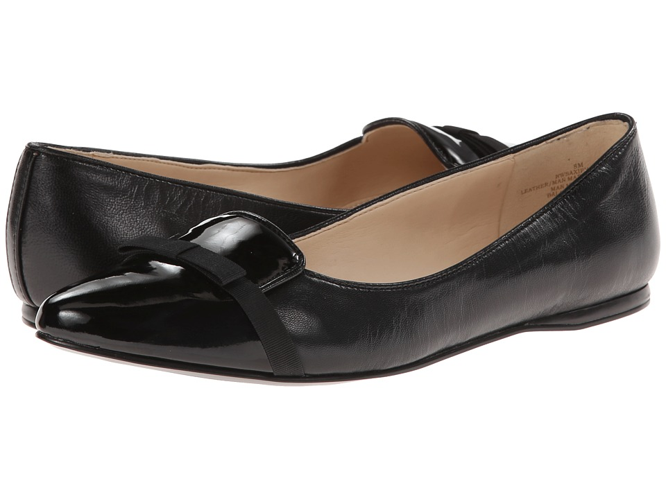 Nine West - Saxiphone (Black Multi Leather) Women's Slip on Shoes