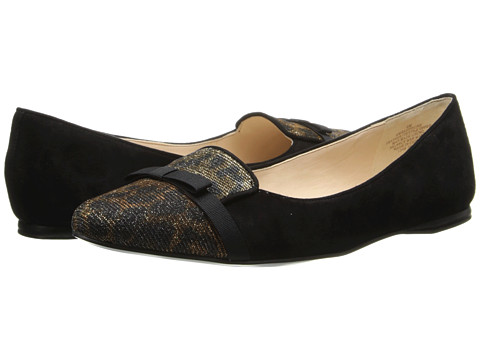Nine West - Saxiphone (Black Suede/Leopard) Women's Slip on Shoes