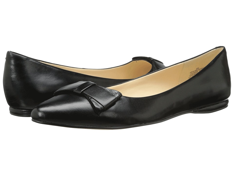 Nine West - Schmakaroo (Black Leather) Women's Slip on Shoes