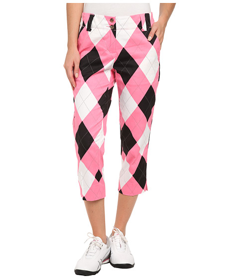 Loudmouth Golf - Pink and Black Capri (Pink/Black/White) Women