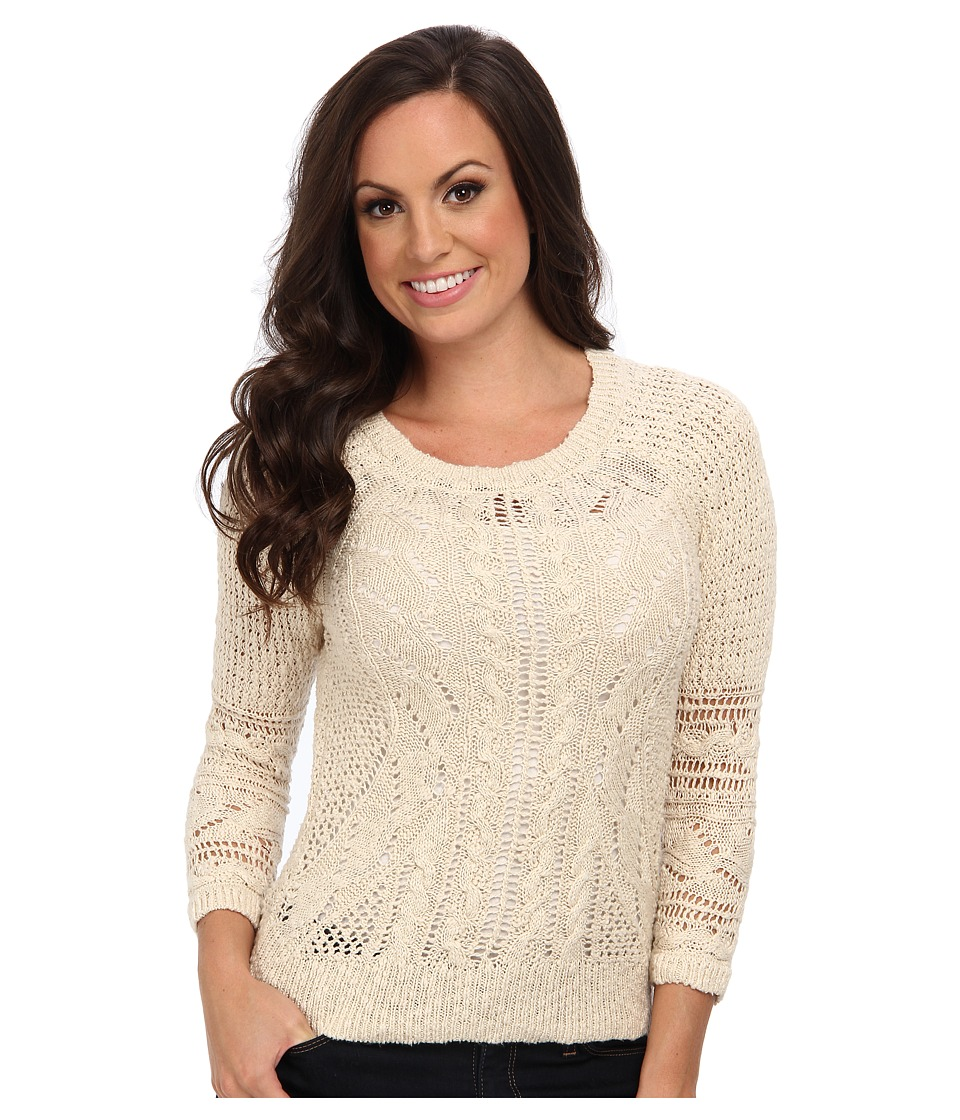 Lucky Brand - Ivy Mixed Stitch Sweater (Natural) Women's Sweater