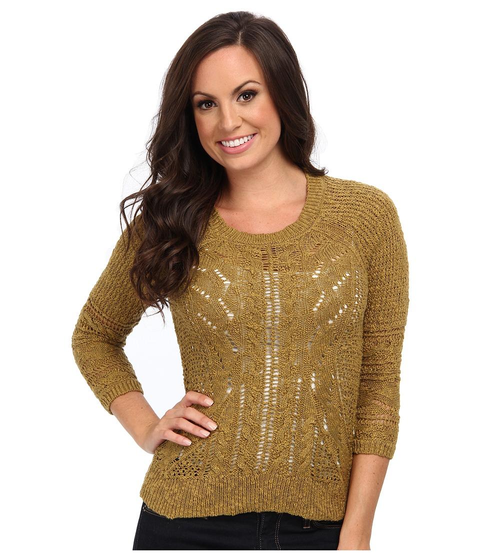 Lucky Brand - Ivy Mixed Stitch Sweater (Banana Leaf) Women
