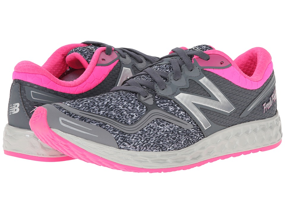 New Balance - Fresh Foam Zante (Grey/Pink) Women's Running Shoes