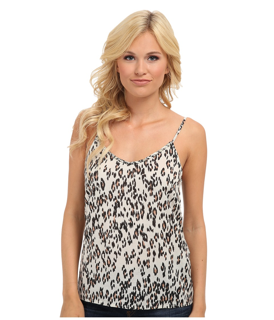 Lucky Brand - Leopard Braided Tank Top (Natural Multi) Women's Sleeveless