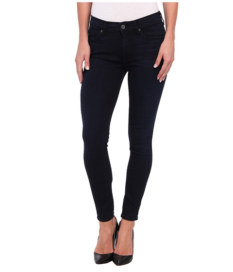 7 For All Mankind - The Ankle Skinny in Lilah Blue Black (Lilah Blue Black) Women