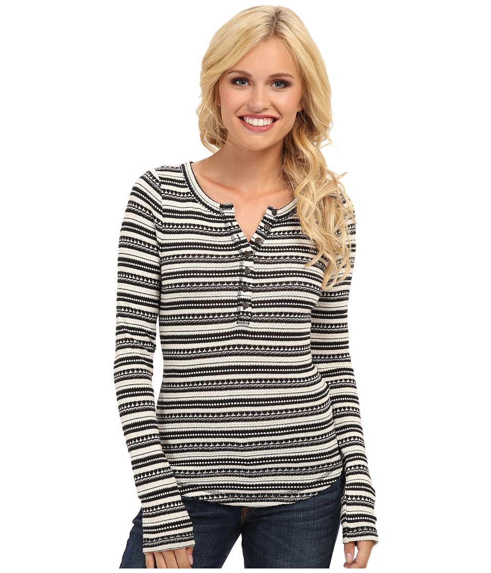 Lucky Brand - Chloe Stripe Thermal (Black Multi) Women's Sweater