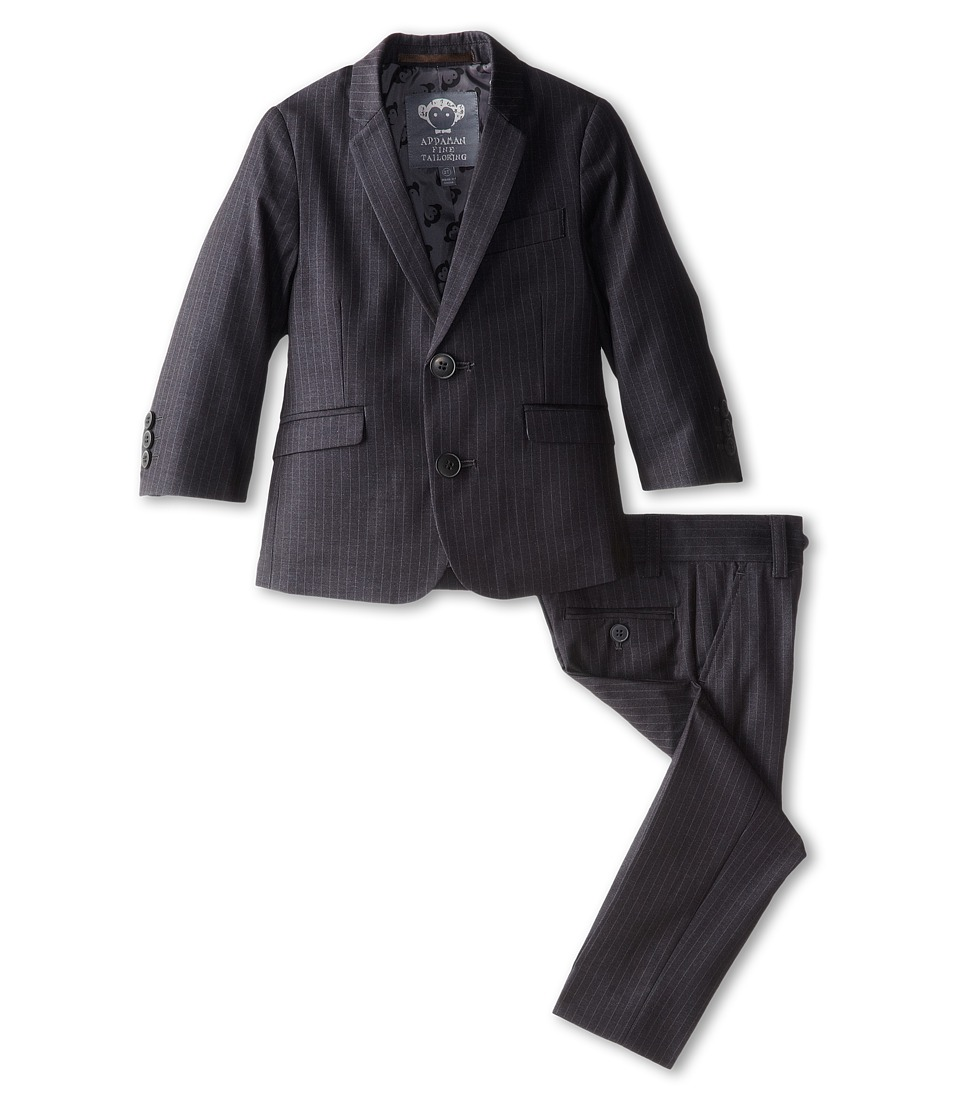 Appaman Kids - Two Piece Lined Classic Mod Suit (Toddler/Little Kids/Big Kids) (Black Pinstripe) Boy's Suits Sets