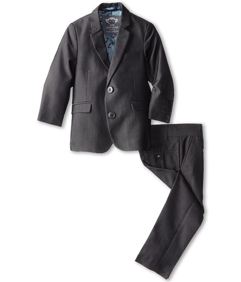 Appaman Kids - Two Piece Lined Classic Mod Suit (Toddler/Little Kids/Big Kids) (Vintage Black 1) Boy