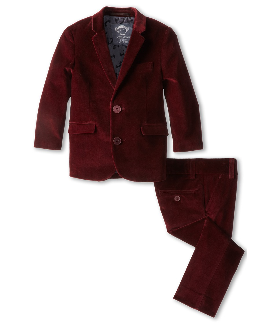 Appaman Kids - Two Piece Lined Classic Mod Suit (Toddler/Little Kids/Big Kids) (Maroon) Boy's Suits Sets