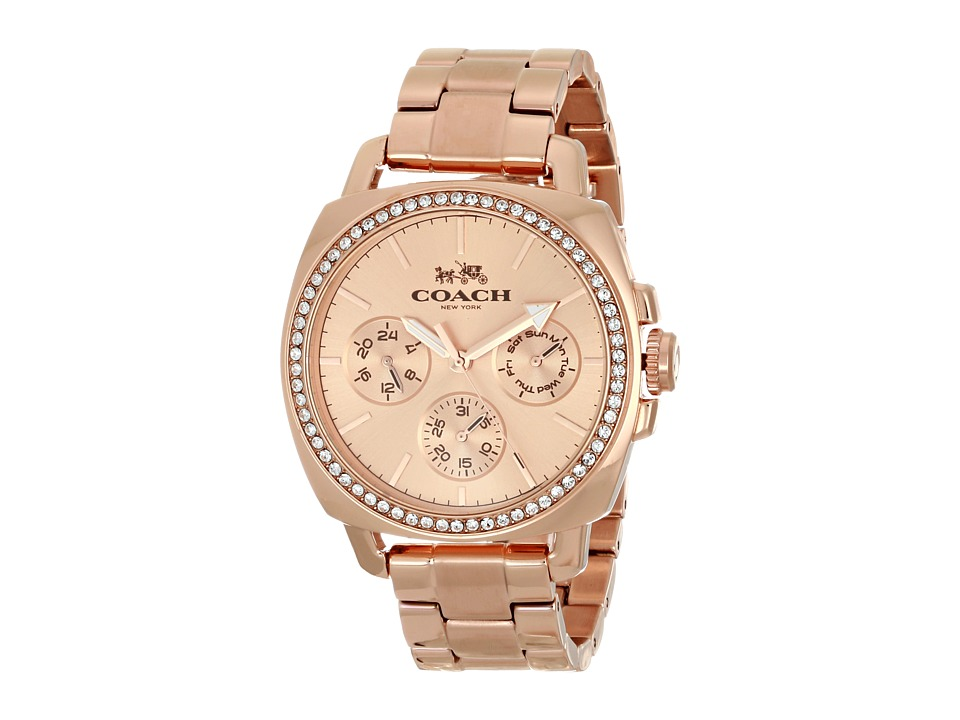 COACH - Boyfriend 40MM Bracelet Watch (Rosegold) Watches