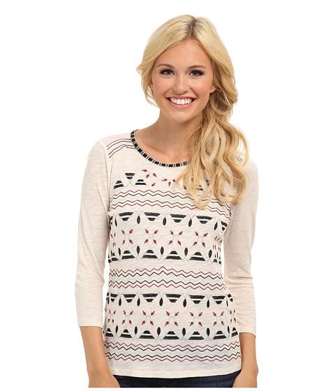 Lucky Brand - Farrah Embroidered Top (Nigori) Women's Long Sleeve Pullover