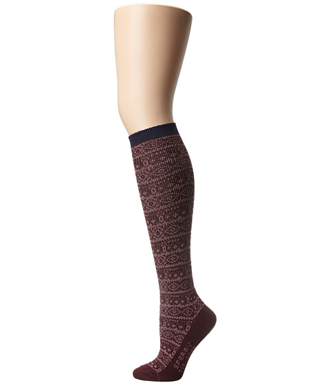 Sperry Top-Sider - Soft Dreamy Nordic Stripe (Vineyard Wine) Women's Crew Cut Socks Shoes