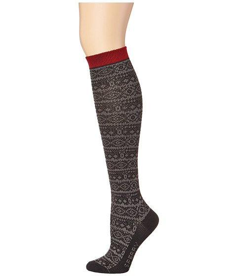 Sperry Top-Sider - Soft Dreamy Nordic Stripe (Black) Women's Crew Cut Socks Shoes