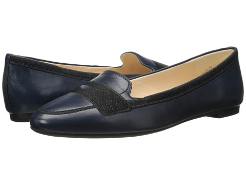 Shop Nine West online and buy Nine West Zappoli Navy Leather Womens Slip on  Shoes shoes online