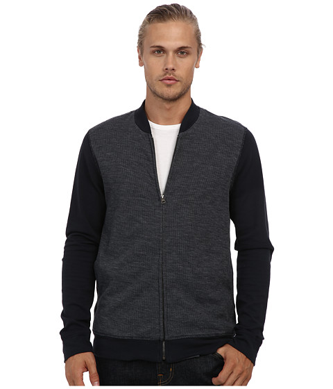 Velvet by Graham & Spencer - Gilbert L/S Flatback Thermal Zip Bomber Jacket (Barracuda) Men's Coat