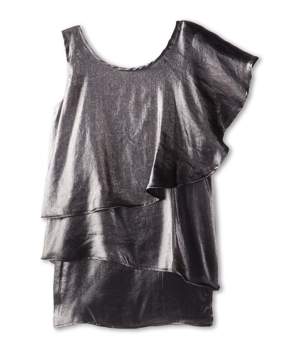 Appaman Kids - Layered One Shoulder Dress (Toddler/Little Kids/Big Kids) (Metallic Silver) Girl's Dress