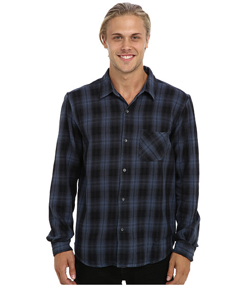 Velvet by Graham & Spencer - Nash L/S Checked Heavy Cotton Shirt (Bermuda) Men's Long Sleeve Button Up