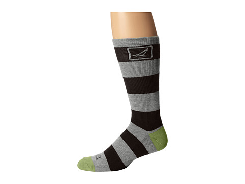 Sperry Top-Sider - Solid Rugby (Charcoal Heather/Black) Men's Crew Cut Socks Shoes