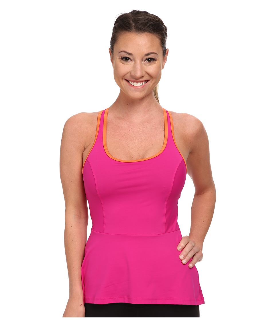 Spanx Active - Peplum Tank (Pink Pow) Women's Sleeveless
