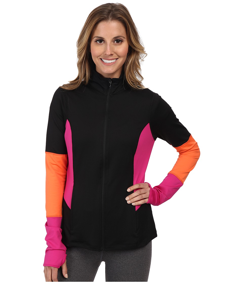 Spanx Active - Mod Bod Jacket (Black/Pink Pow) Women's Jacket