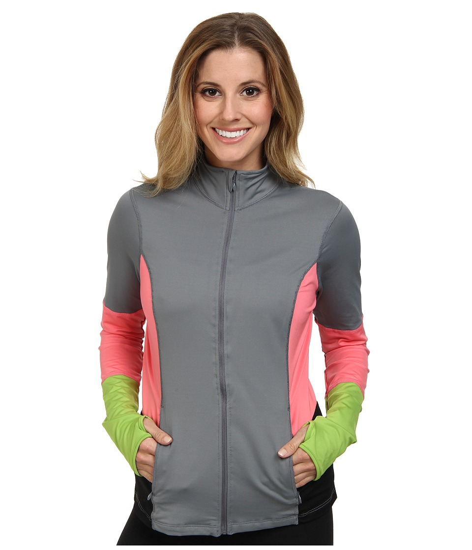 Spanx Active - Mod Bod Jacket (Cool Gray/Hot Peach) Women's Jacket