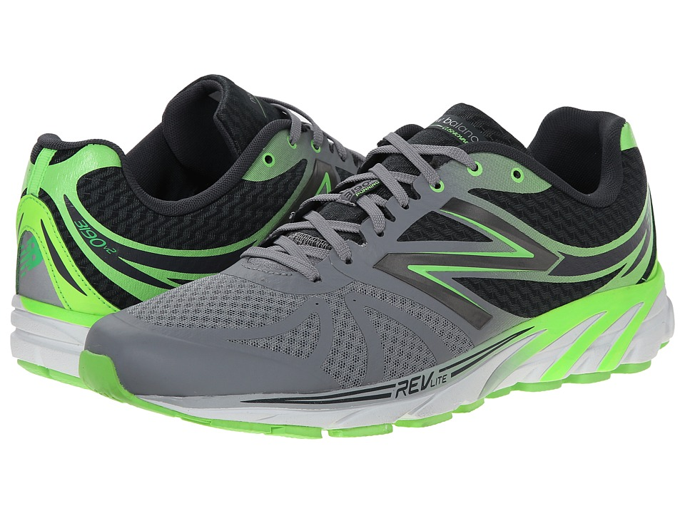 New Balance - M3190v2 (Silver/Green) Men's Running Shoes