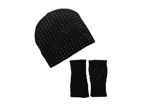 Echo Design - Bling Fingerless Set (Black) Beanies