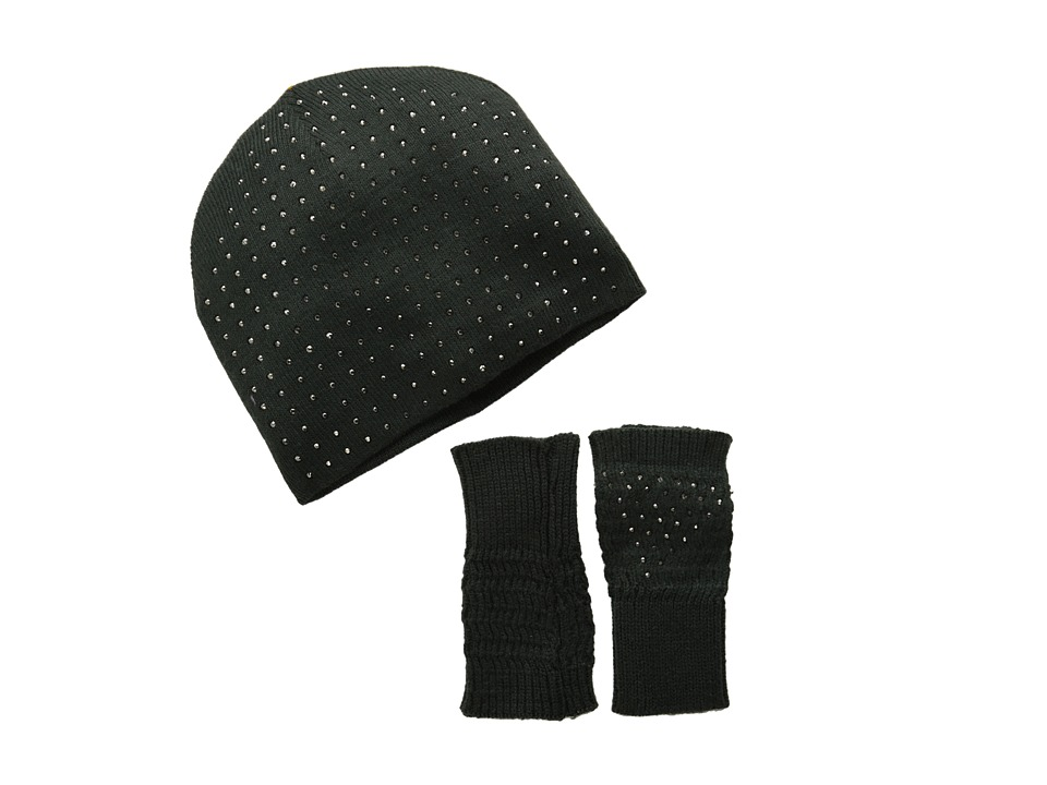 Echo Design - Bling Fingerless Set (Charcoal Heather) Beanies