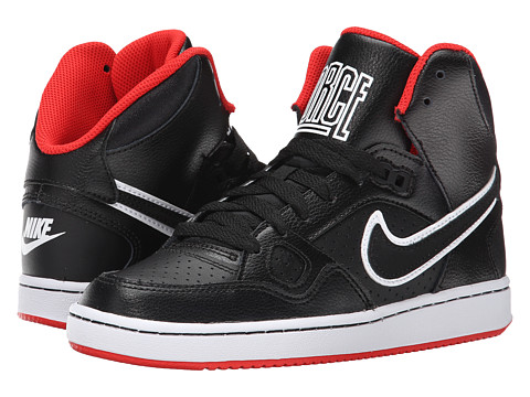 Nike Kids - Son of Force Mid (Big Kid) (Black/Challenge Red/Black) Boys Shoes