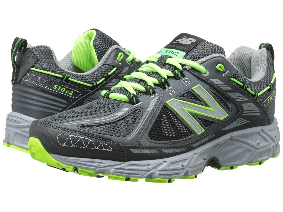 New Balance - MT510v2 (Grey/Green) Men's Running Shoes