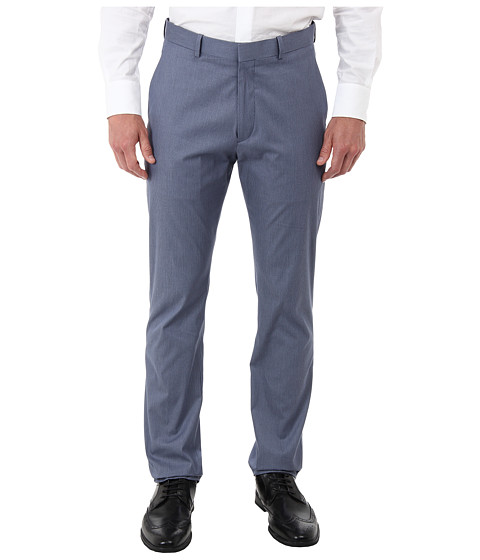 Perry Ellis - Travel Luxe Chino Slim Fit Mini Stripe (Blue Heron) Men