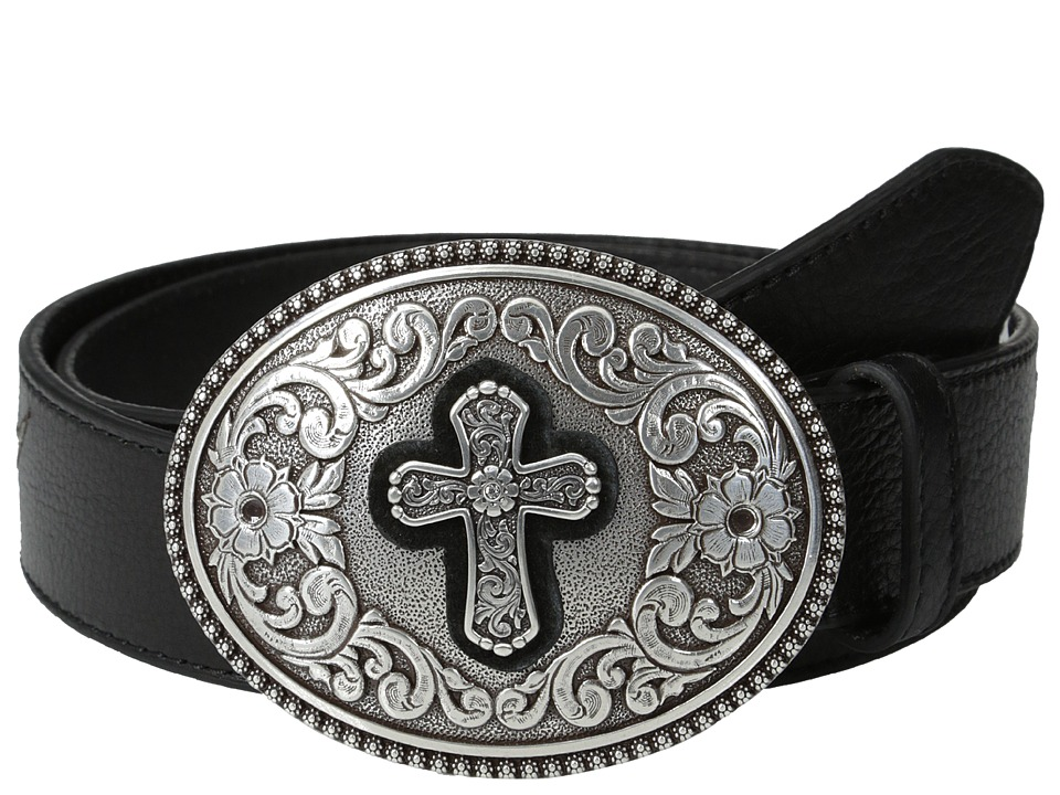 Ariat - Winged Belt w/ Large Cross Buckle (Black) Women's Belts