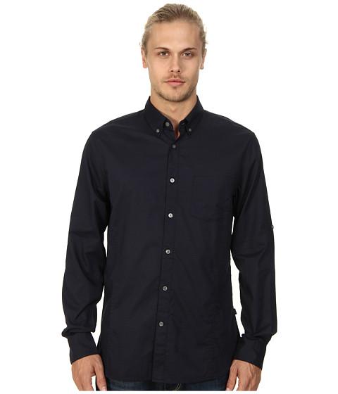 John Varvatos Star U.S.A. - Roll Up Sleeve Shirt w/ Button Down Collar (Indigo) Men