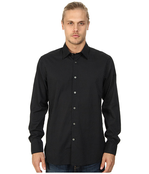 John Varvatos Star U.S.A. - Basic Point Collar Shirt W184Q4B (Black) Men's Long Sleeve Button Up