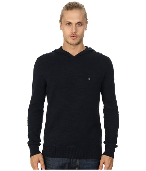 John Varvatos Star U.S.A. - Pullover Hoodie Sweater w/ Peace Embroidery Y763Q4B (Eclipse) Men