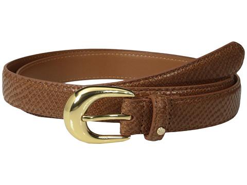LAUREN by Ralph Lauren - 1 Snake Embossed Belt (Bourbon) Women