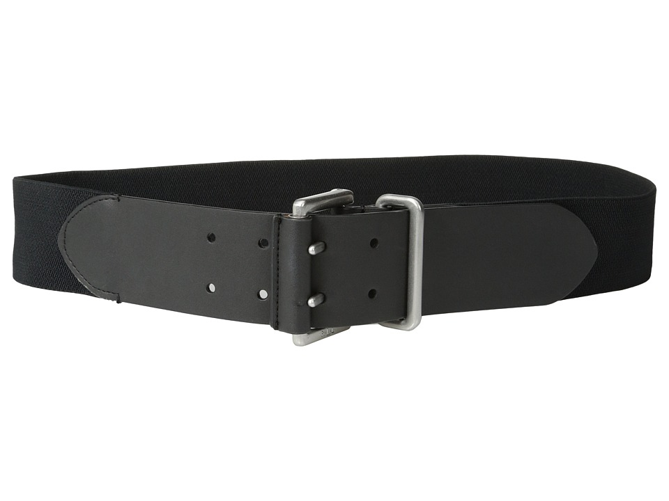 LAUREN by Ralph Lauren - 2 Stretch Belt w/ Double Prong Buckle (Black) Women