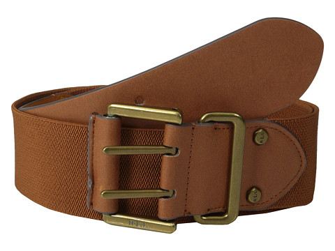 LAUREN by Ralph Lauren - 2 Stretch Belt w/ Double Prong Buckle (Tan) Women's Belts