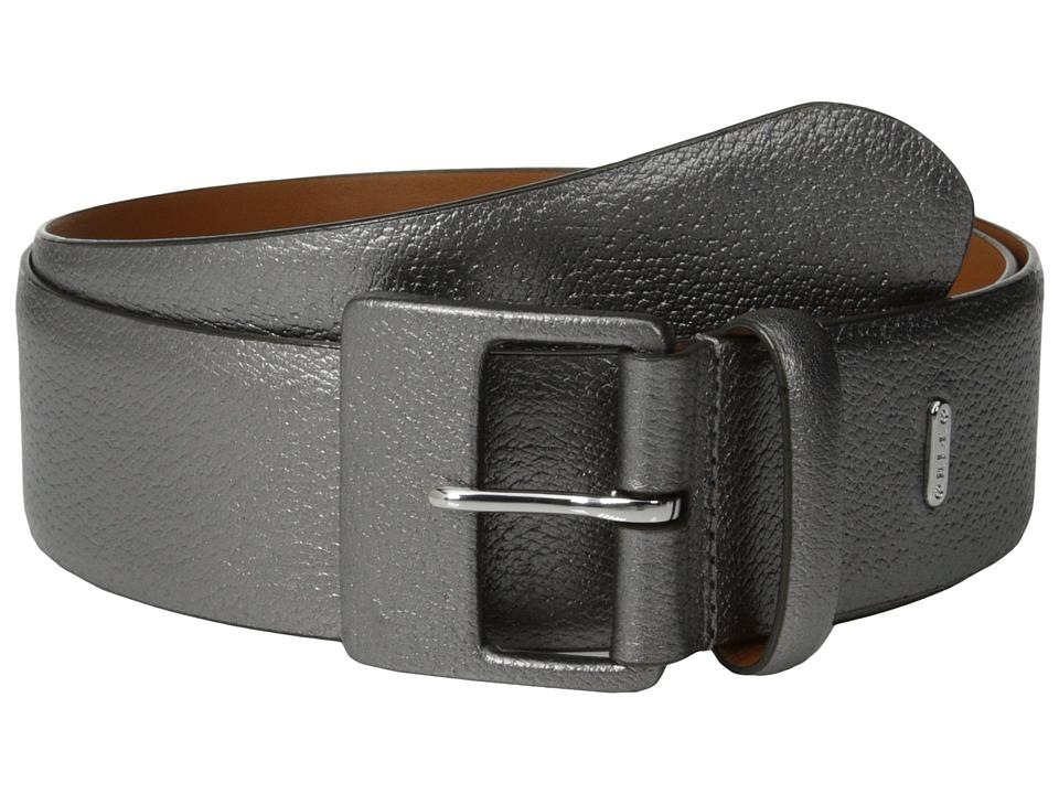 LAUREN by Ralph Lauren - 1 5/8 Textured Leather Belt w/ Leather Covered Buckle (Mercury) Women's Belts