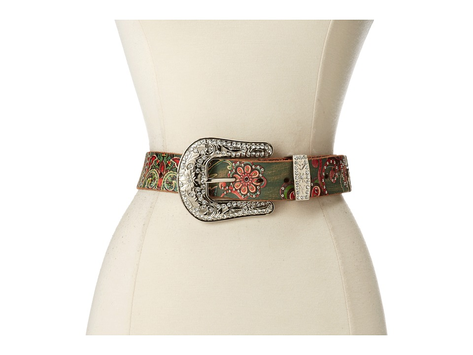 M&F Western - Floral Paisley Painted Belt (Multi) Women's Belts