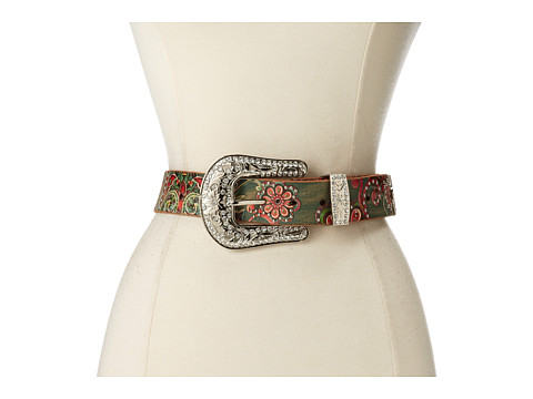 M&F Western - Floral Paisley Painted Belt (Multi) Women