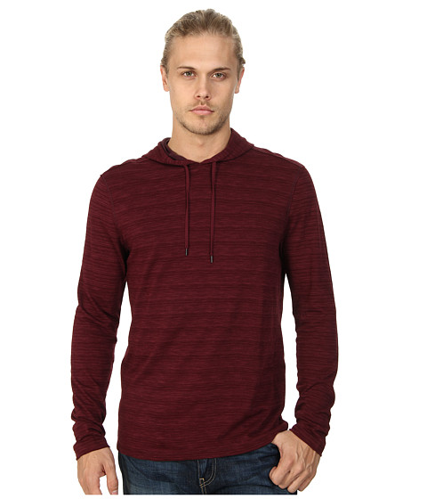 John Varvatos Star U.S.A. - Pullover Knit Hoodie w/ Raw Cut Edges K1203Q4B (Oxblood) Men